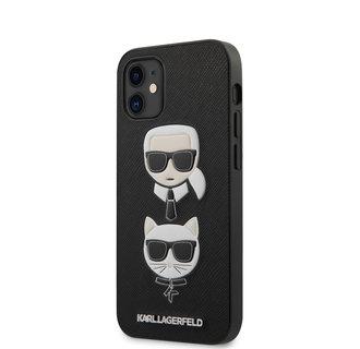 Karl Lagerfeld Apple iPhone 12 Mini Black Back cover case - Saffiano