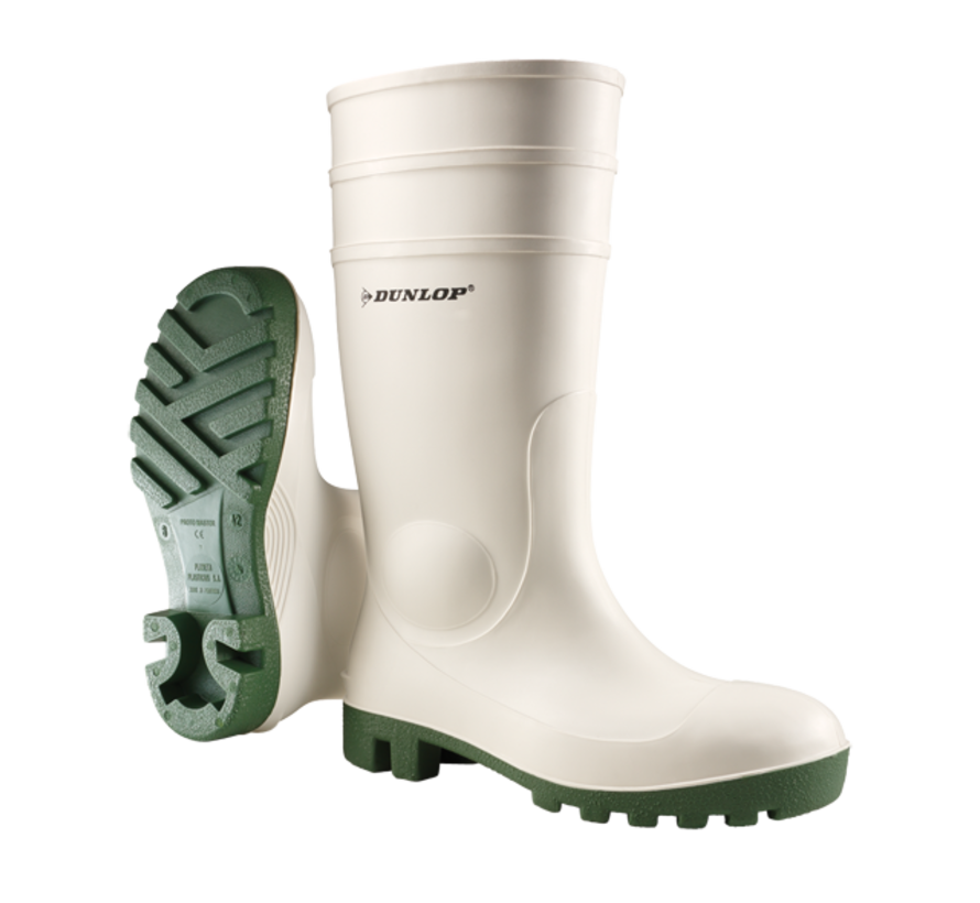 Dunlop Protomastor Safety SB wit met groene zool (171BV)