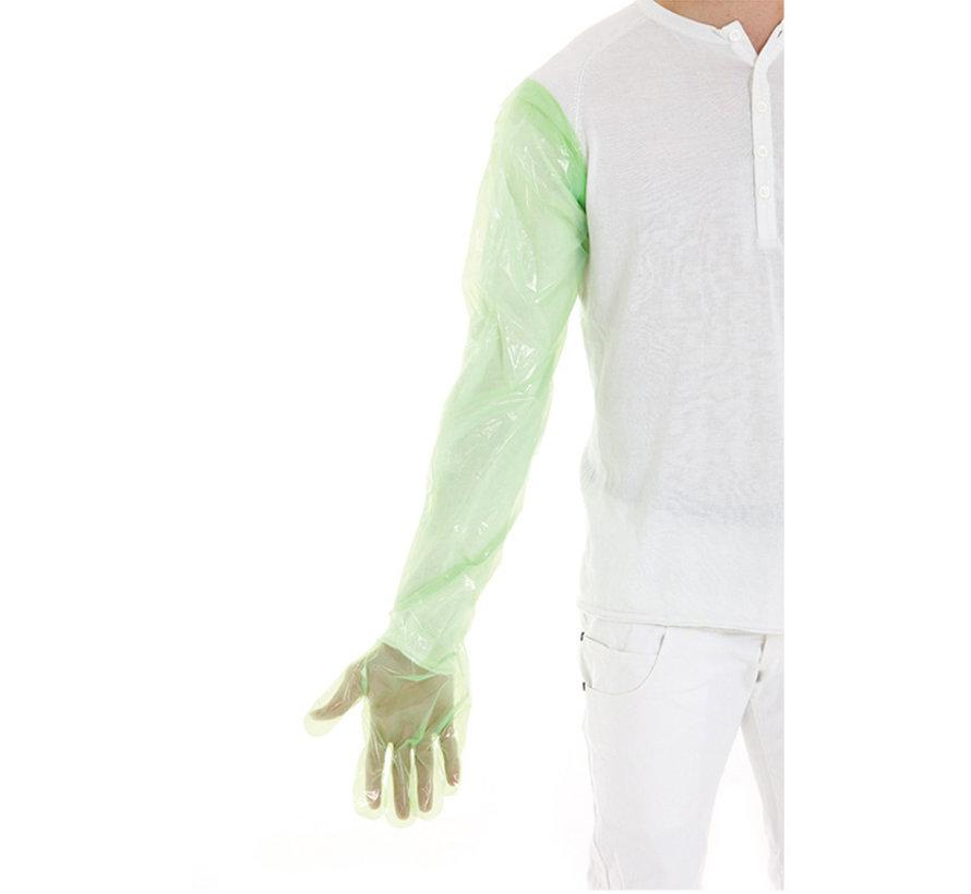 LDPE veterinaire handschoenen groen 90 cm in dispenser 1.000 stuks