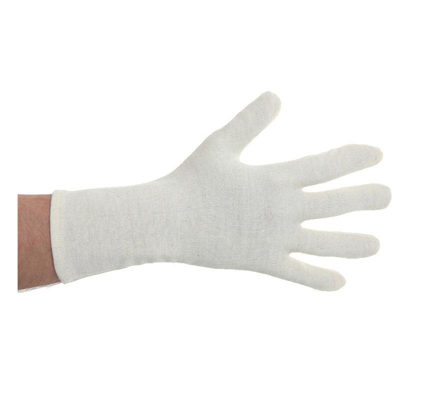Katoenen handschoenen naturel zonder manchet 600 stuks
