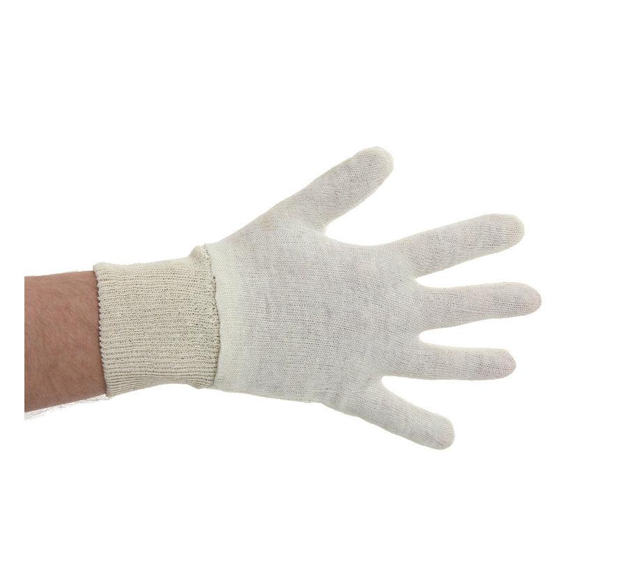 Katoenen handschoenen naturel met manchet 600 stuks