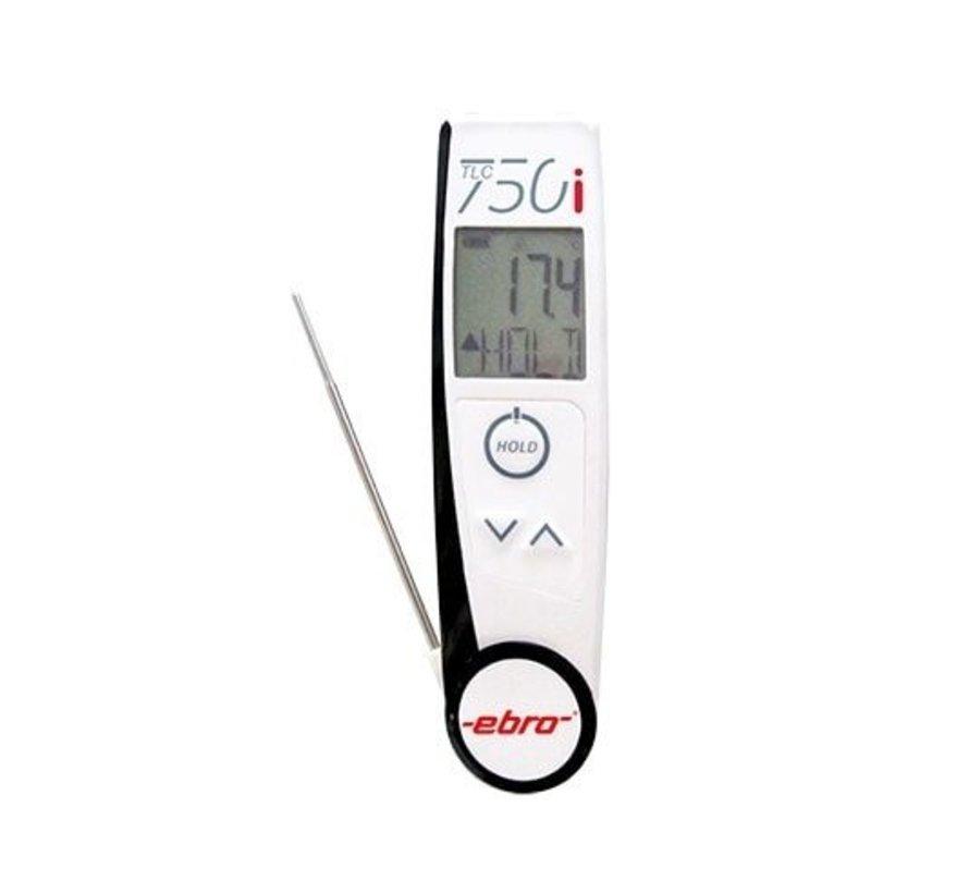 Ebro TLC 750i 2 in 1 thermometer, insteekvoeler en infraroodsensor