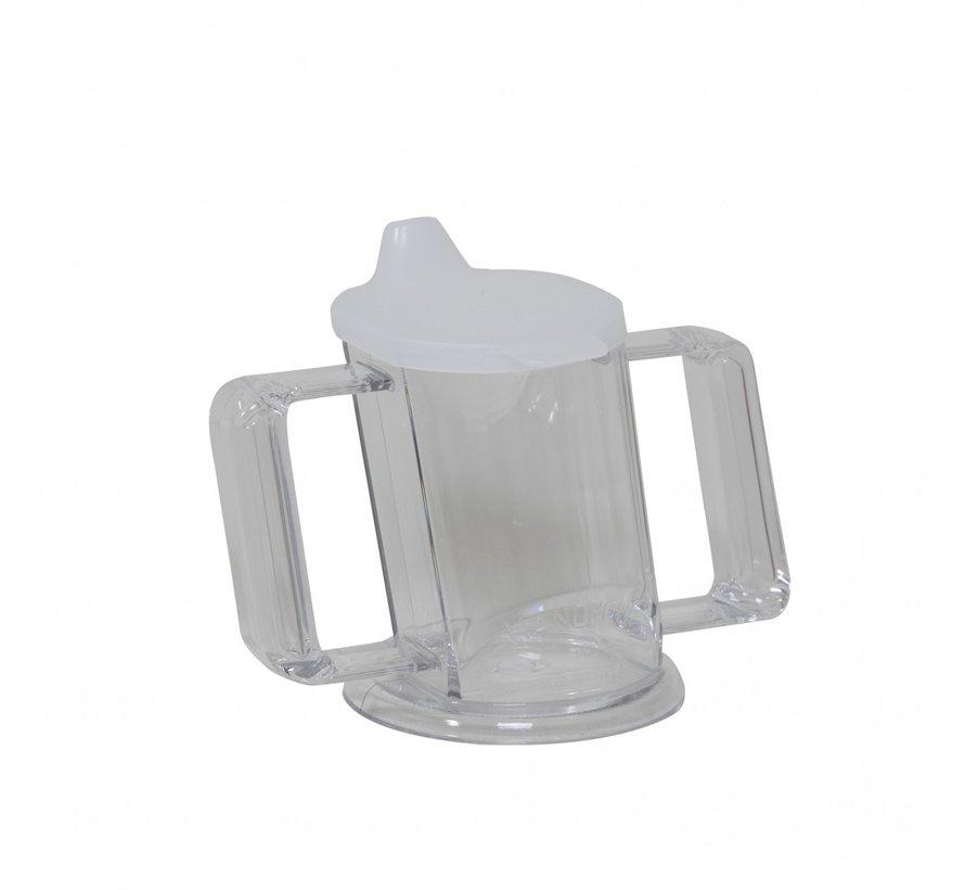 HandyCup met deksel transparant 200 ml