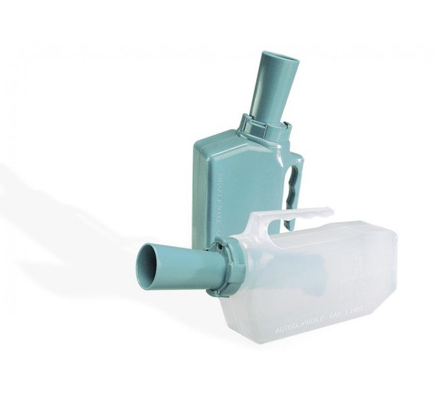 Urinaal met terugloop beveiliging man