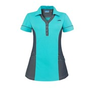 De Berkel De Berkel Trix polo-shirt turquoise denim