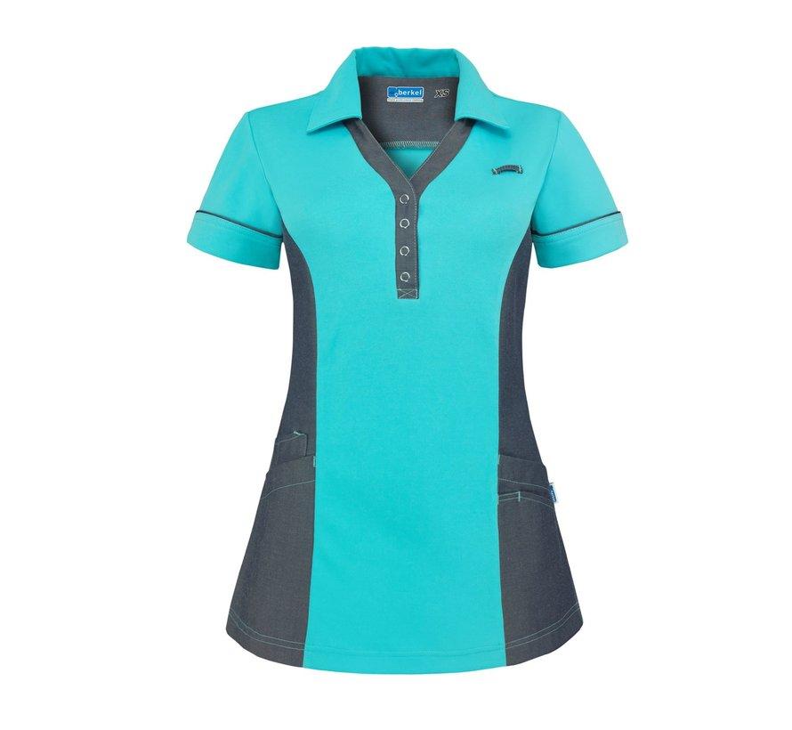 De Berkel Trix polo-shirt turquoise denim