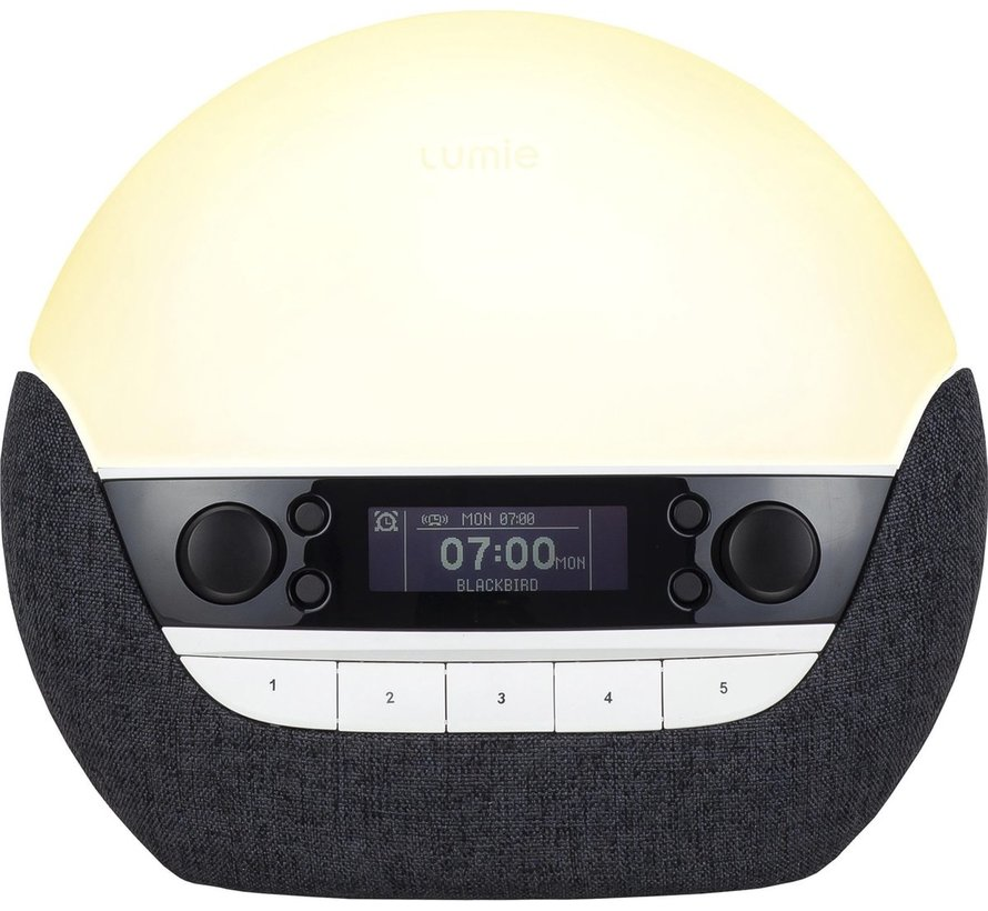 Lumie Bodyclock Luxe 750DAB - Wake-up light - USB/DAB+/Bluetooth - Antraciet