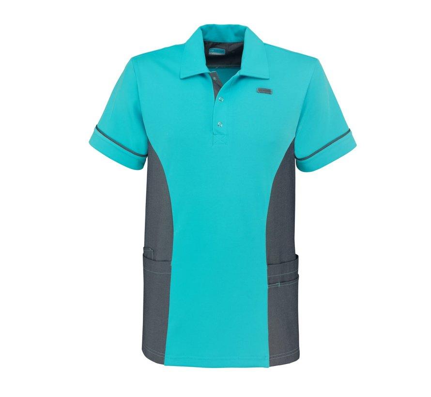 De Berkel Taco polo-shirt turquoise denim