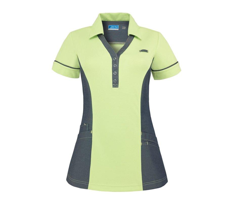 De Berkel Trix polo-shirt l'groen denim