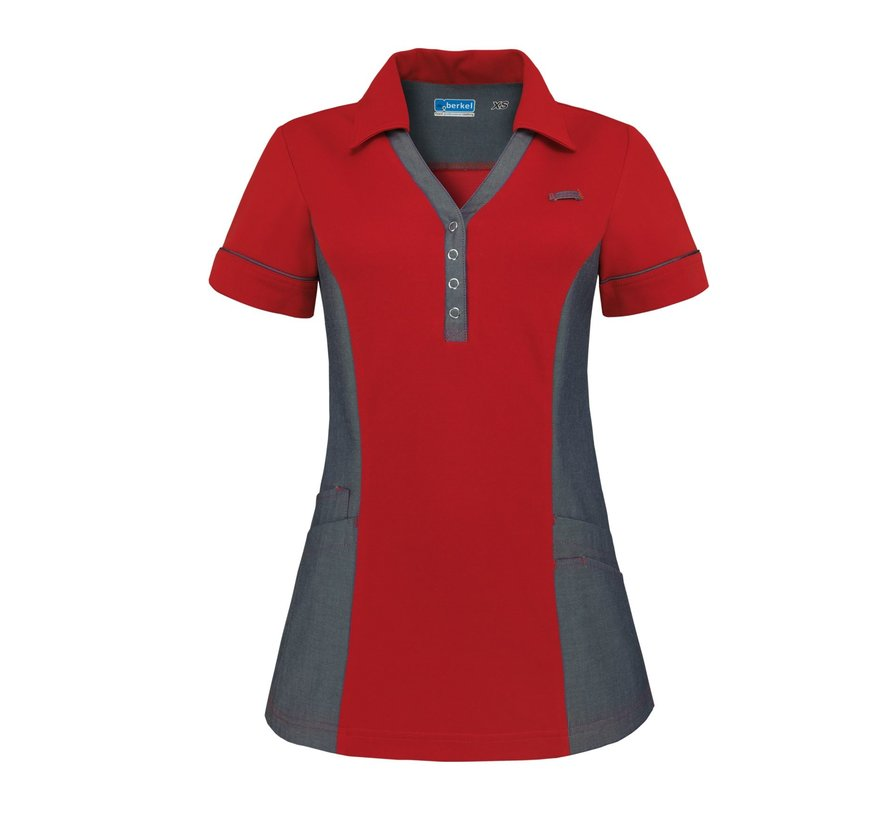 De Berkel Trix polo-shirt cherry red denim