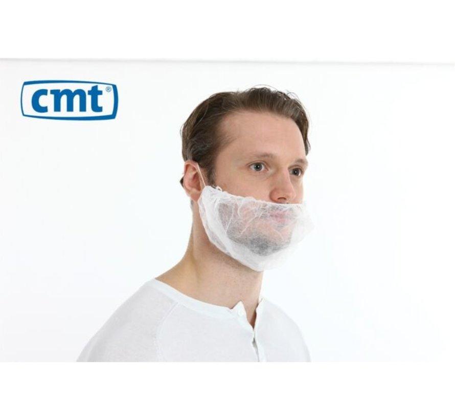 CMT baardmasker met enkel hoofdelastiek wit in doos 1000 stuks