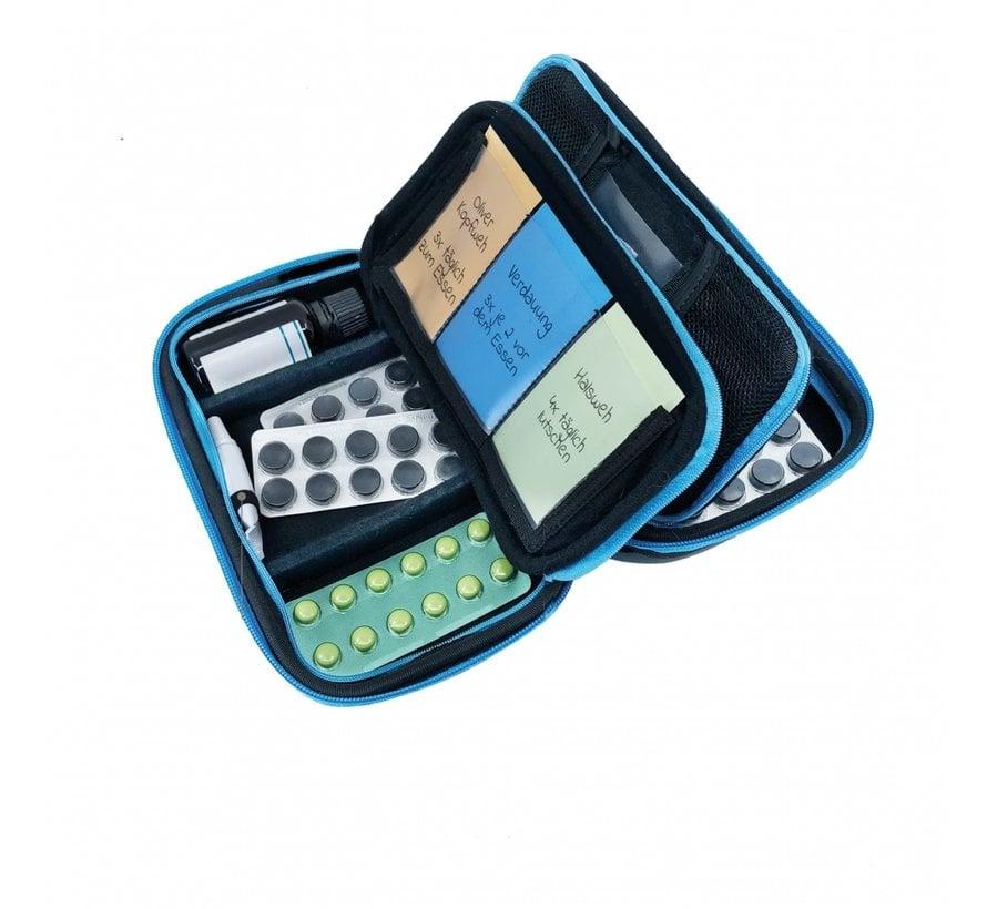 Pillbase Travel groot zwart/blauw