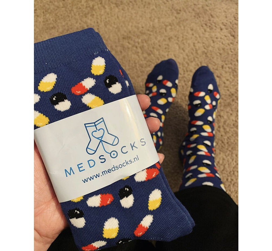 MedSocks Zorgsokken Medicatie Pillen