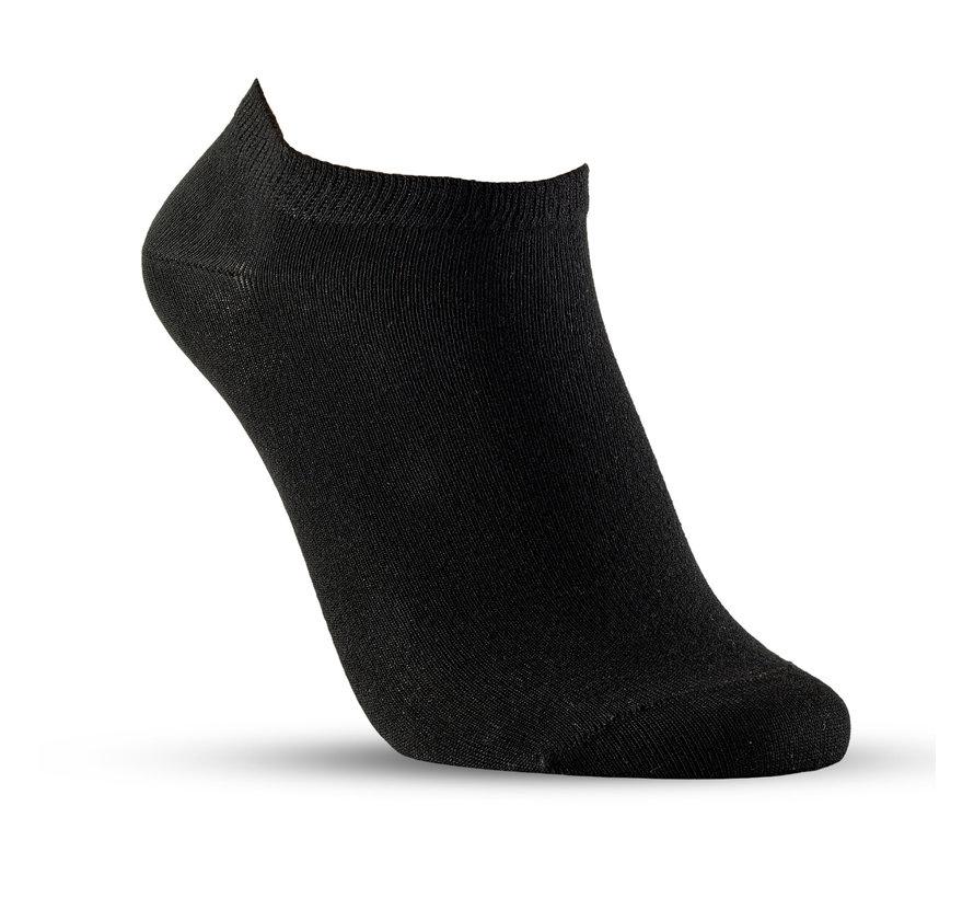 Sanita Bamboe zorgsokken Footies zwart enkelsok 3-pack