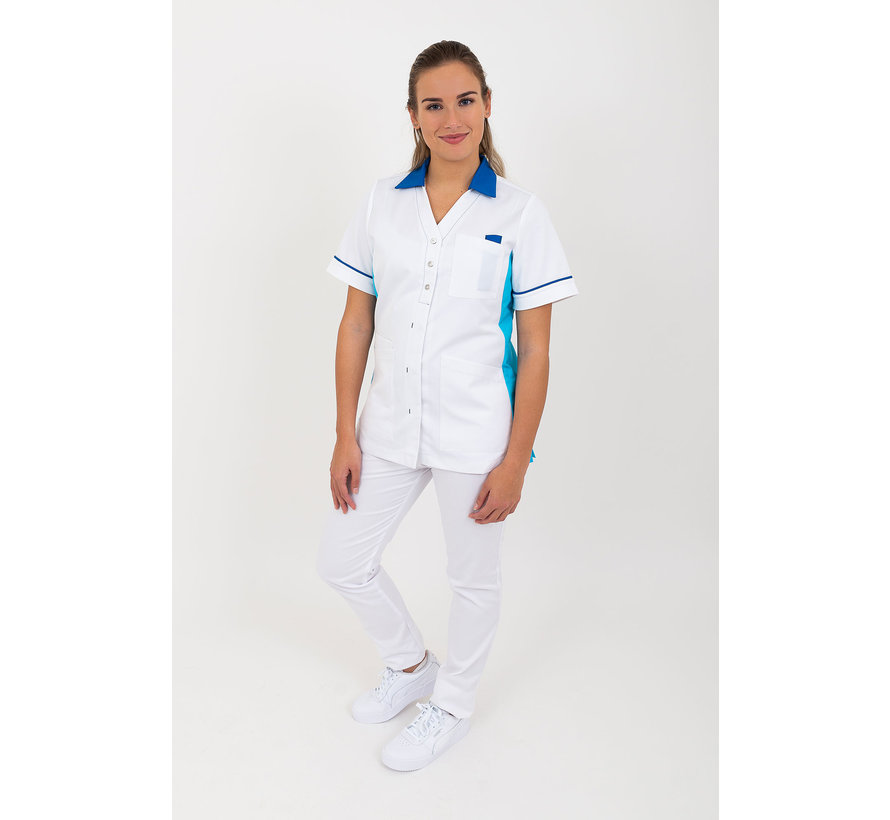SHAE Care Emma dames tuniek wit blauw