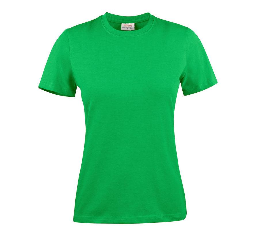 Printer Heavy t-shirt dames ronde hals frisgroen