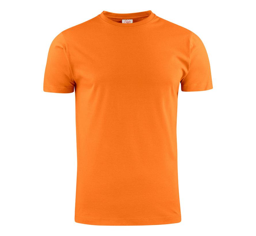 Printer Heavy t-shirt RSX ronde hals fel oranje