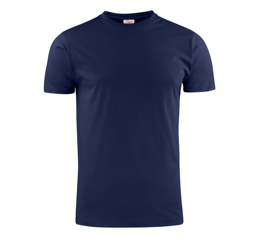 Printer Heavy t-shirt RSX ronde hals marine