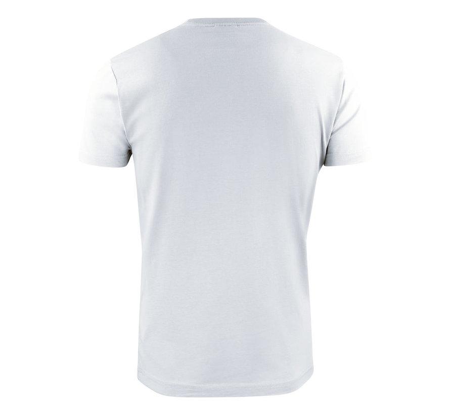 Printer Heavy t-shirt RSX ronde hals wit