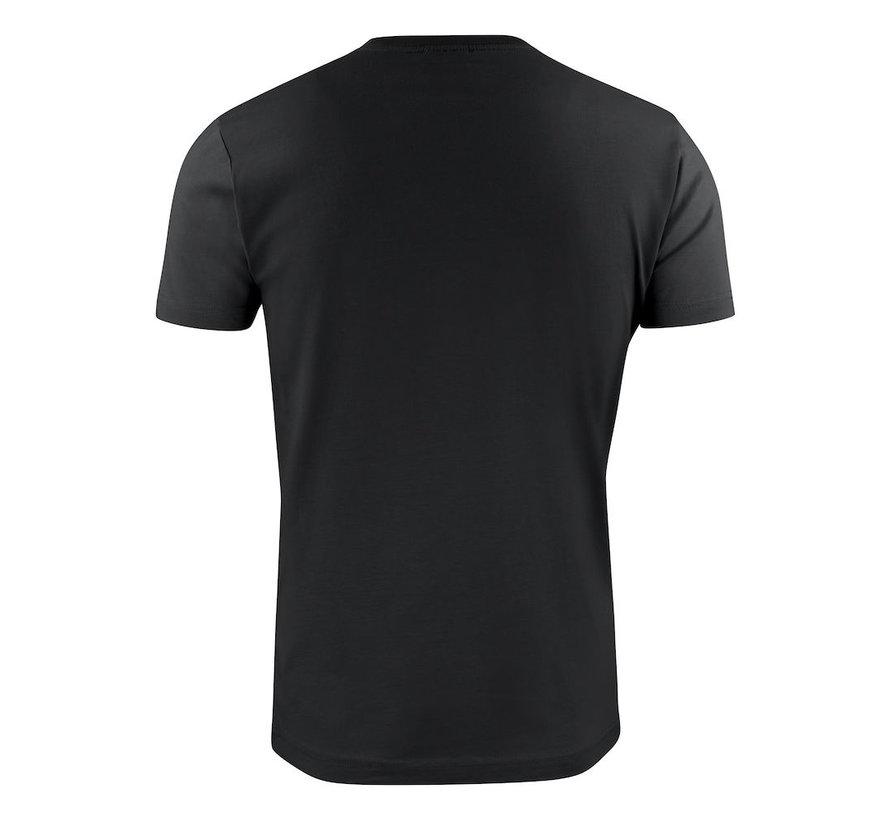 Printer Heavy t-shirt RSX ronde hals zwart