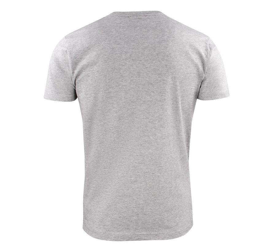 Printer Heavy t-shirt RSX ronde hals grijs mélée