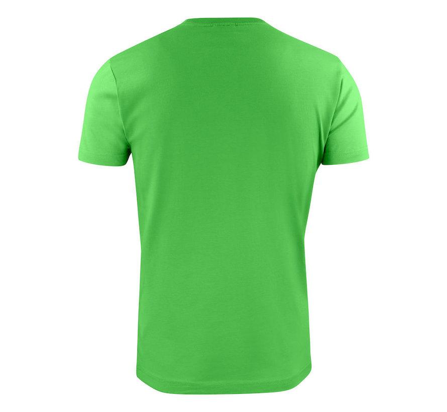 Printer Heavy t-shirt RSX ronde hals limoengroen