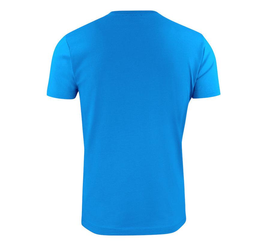Printer Heavy t-shirt RSX ronde hals oceaanblauw