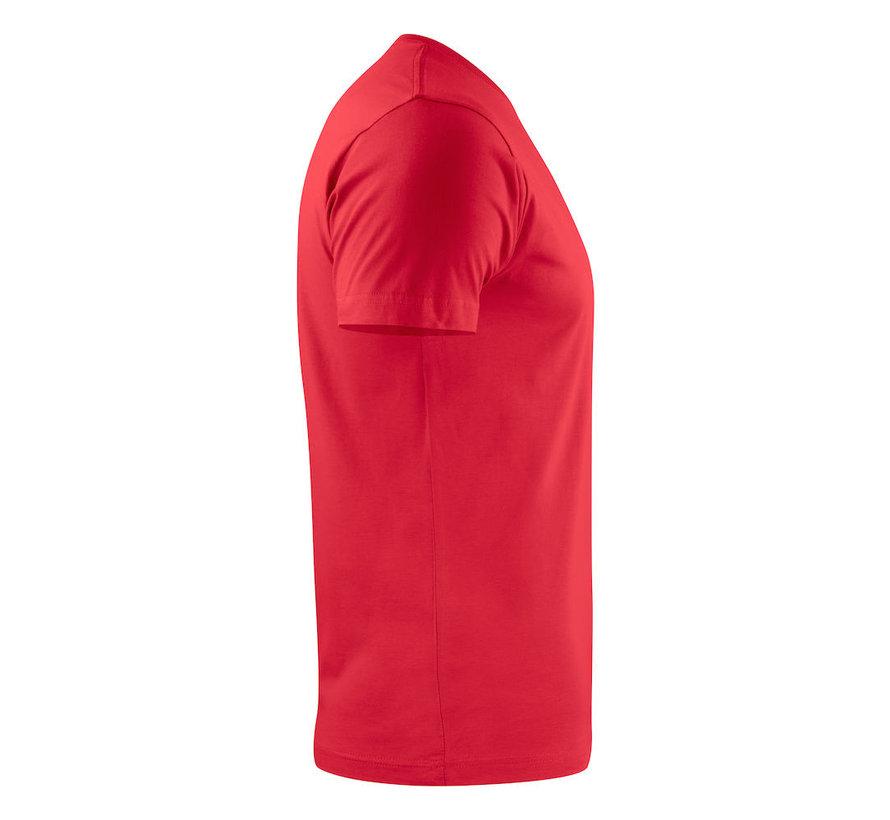 Printer Heavy t-shirt RSX ronde hals rood
