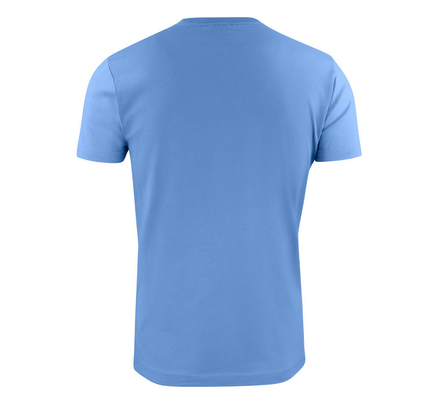 Printer Heavy t-shirt RSX ronde hals hemelsblauw