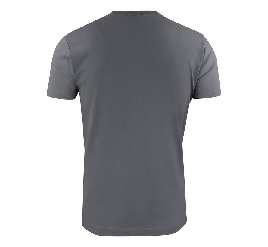 Printer Heavy t-shirt RSX ronde hals staalgrijs
