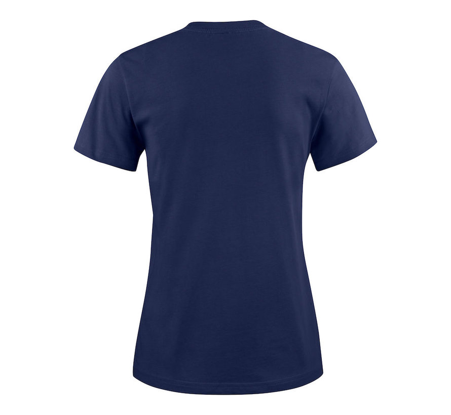 Printer Heavy t-shirt dames ronde hals marine
