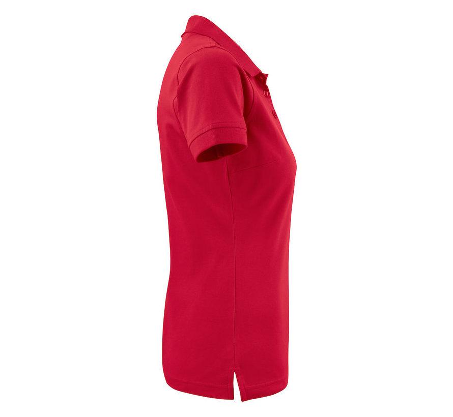 Printer Surf Stretch poloshirt dames rood