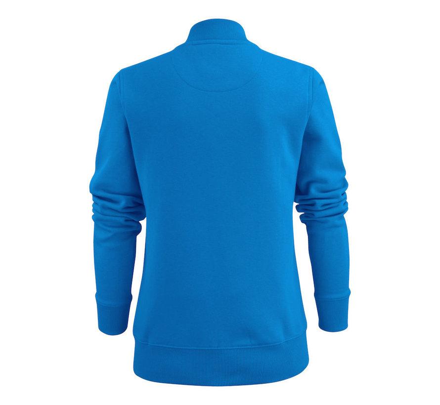 Printer Javelin sweatjacket dames oceaanblauw