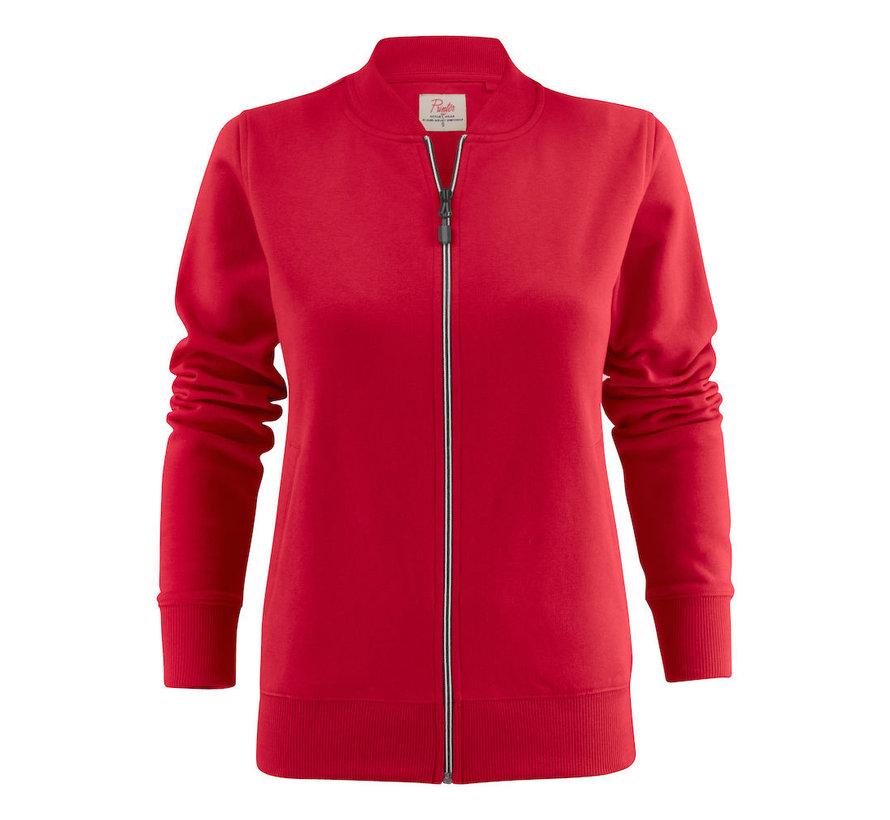 Printer Javelin sweatjacket dames rood
