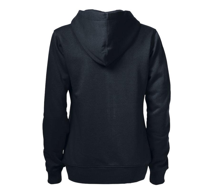 Printer Overhead Sweatshirt met capuchon dames zwart