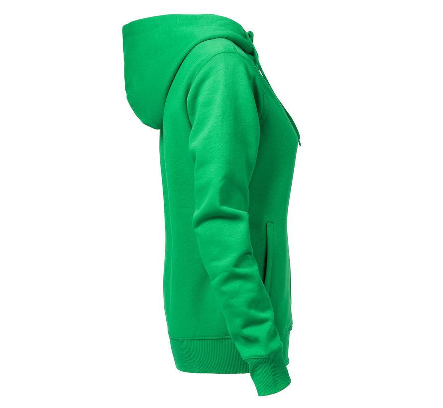 Printer Overhead sweatshirt met capuchon dames frisgroen