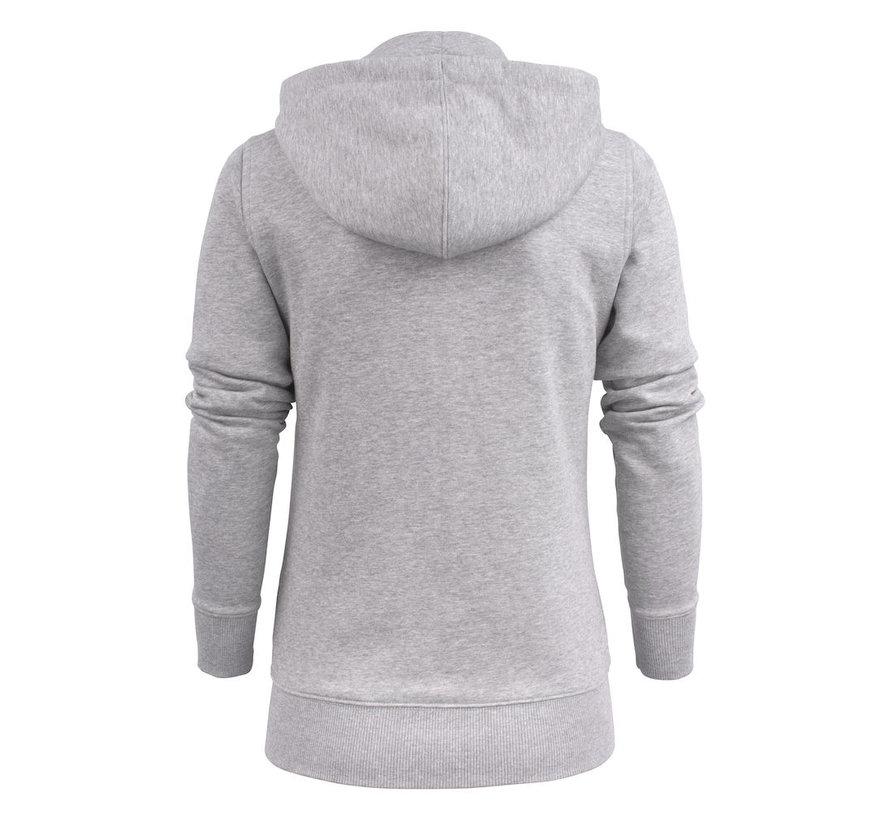 Printer Overhead sweatshirt met capuchon dames grijs mélée