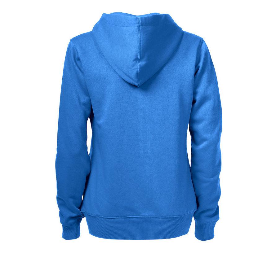 Printer Overhead sweatshirt met capuchon dames oceaanblauw