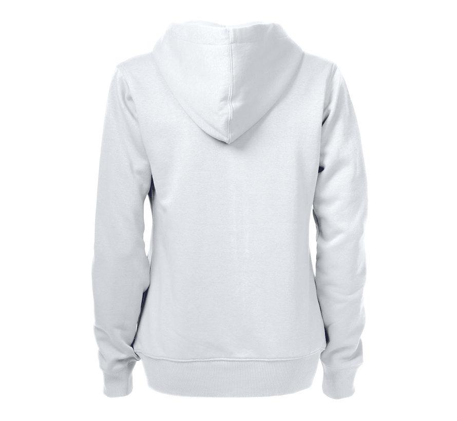 Printer Overhead sweatshirt met capuchon dames wit