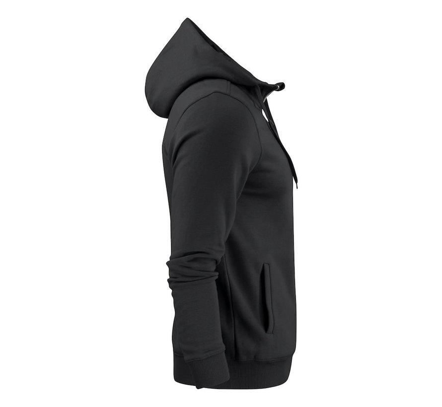 Printer Overhead sweatshirt met capuchon zwart