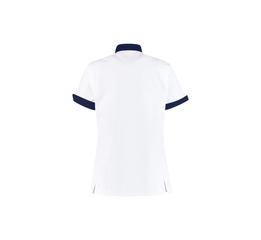 Haen High Line Mila zorgjas dames met tricot mouwinzet wit donkerblauw