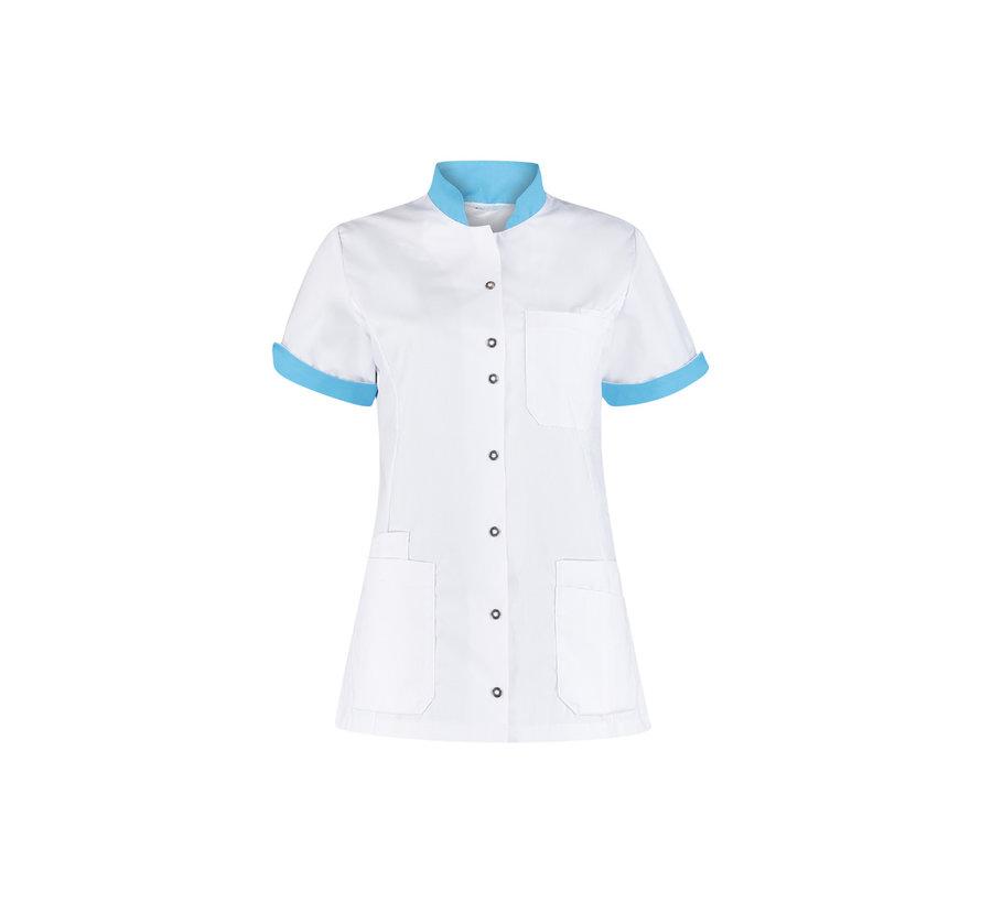 Haen High Line Mila zorgjas dames met tricot mouwinzet wit magic azur