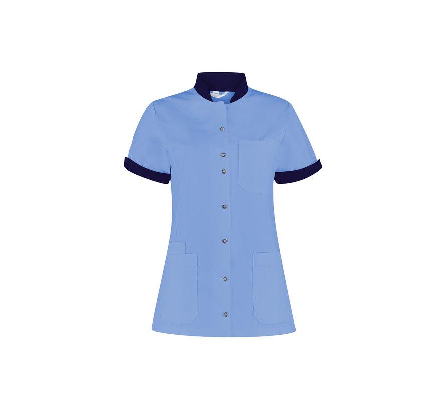 Haen High Line Mila zorgjas dames met tricot mouwinzet petrol blue donkerblauw