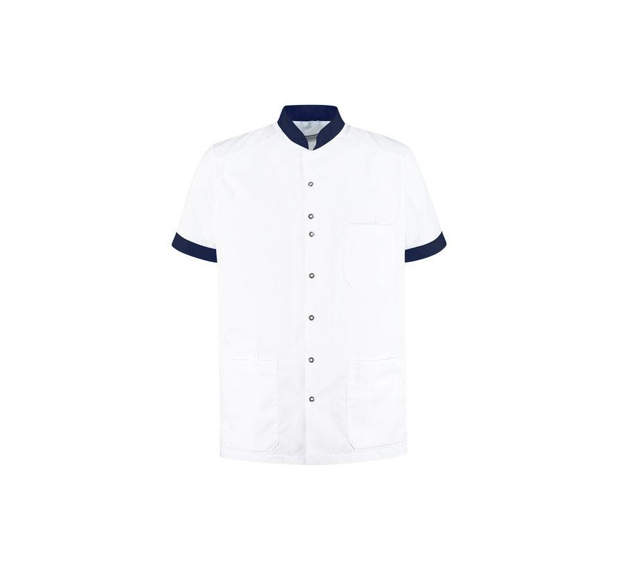 Haen High Line Milo zorgjas heren met tricot mouwinzet wit donkerblauw