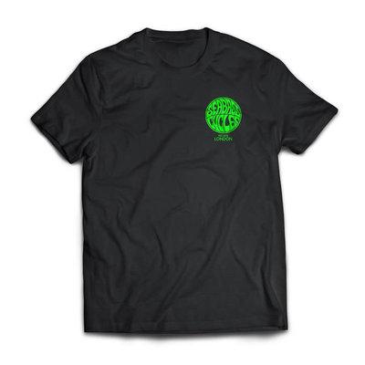 Seabass Cycles Seabass Cycles - Circle Logo - Black / Acid Green Ink