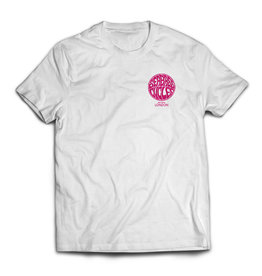 Seabass Cycles Seabass Cycles - Circle Logo - White / Hot Pink Ink