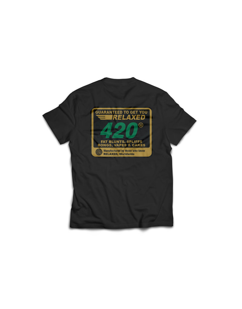 Seabass Cycles Seabass Cycles - Guaranteed to Get You Relaxed x 420  T-Shirt - Black