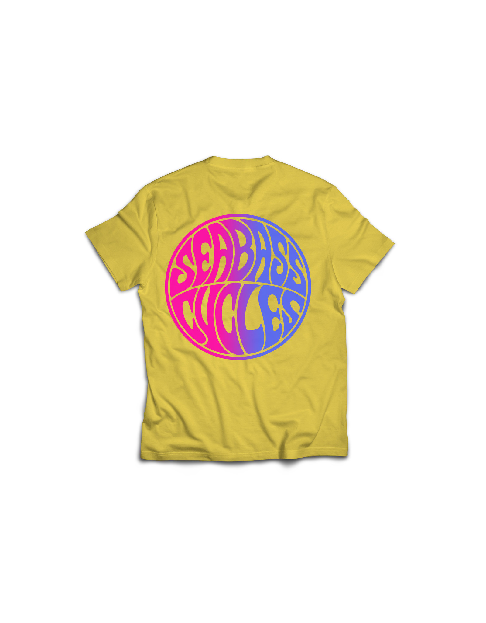 Seabass Cycles Seabass Cycles - Circle Logo Kids TShirt - Yellow