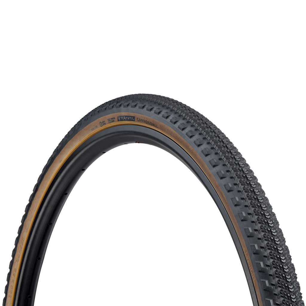 Teravail - Cannonball Light & Supple Tyre - 38c x 700 - Tan Wall