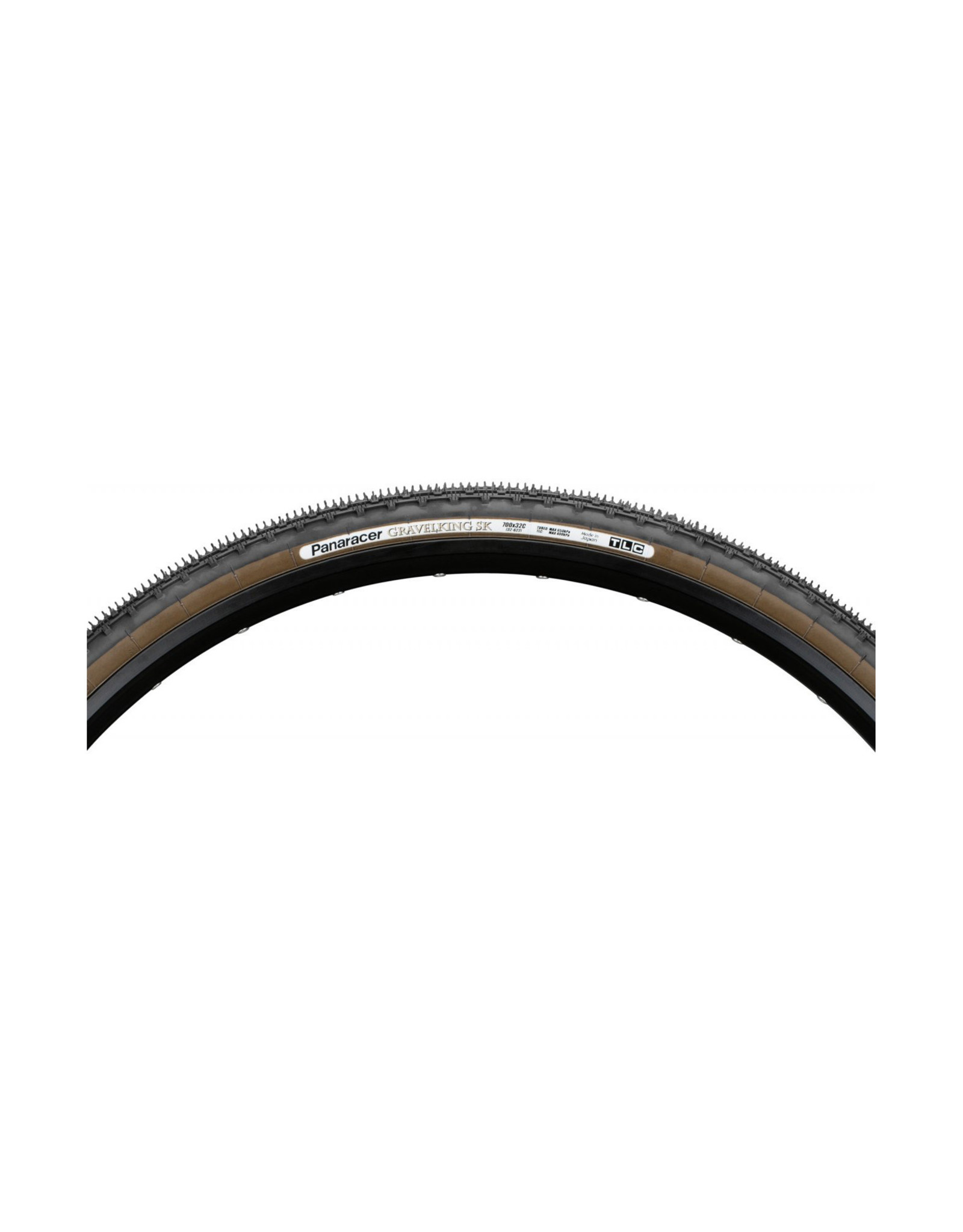 Panaracer Gravelking SK TLC Folding Tyre - 700 x 35c / 38c - Black / Brown